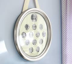 Pottery Barn Picture Frame Silver Leaf Oval First Year Frame Pottery Barn Kids