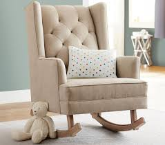 Baby Nursery Rocking Chairs by Light Brown Tufted Modern Nursery Rockers With Wingback Small