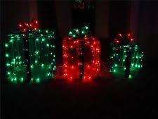 christmas present light boxes lighted gift boxes ebay