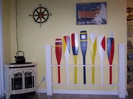 nautical headboard nautical headboard full size paddles oars and more