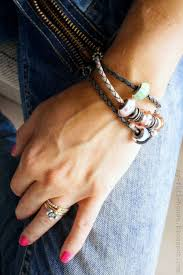 braided leather bracelet with charms images Pandora charms for leather bracelet jpg