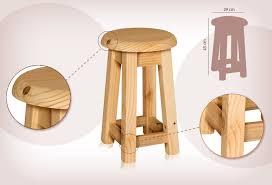 taburetes de pino sg sillas