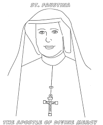 saint coloring page saint faustina coloring page oblates of divine mercy