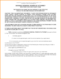 Form For General Power Of Attorney by 9 Texas Durable Power Of Attorney Form 2015 Week Notice Letter