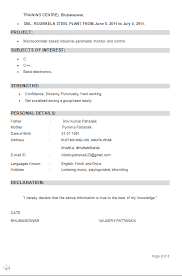 resume format for freshers engineers eceti ece resume format ece sle resume how to create resume format