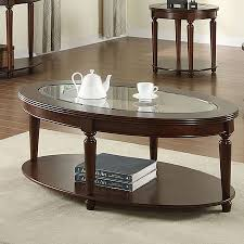 cherry end tables queen anne shop furniture of america granvia dark cherry oval coffee table at
