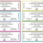 event ticket templates u2013 make your own printable tickets with