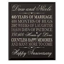 40th anniversary gift 40 year anniversary gift