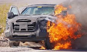 subaru fire ford probes fire that destroyed pickup during testing