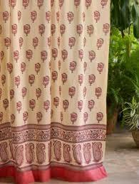 Tab Top Sheer Curtain Panels Fair Trade Hand Printed Cotton Voile Curtain Same Shop Has Lots