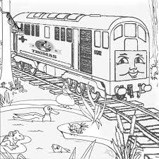 coloring pages thomas friends cool train coloring books az