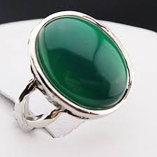 cheap mothers day rings new arrival guaranteed 100 jade stones oval vintage retro