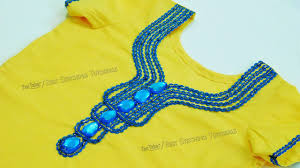 kurti front neck design lace and kundan neck designs