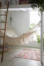 black and beige stripes hammock chair