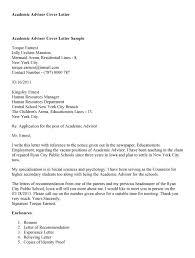 sample academic advisor cover letter cover letter example