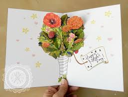last minute mother u0027s day flower pop up card download make an easy
