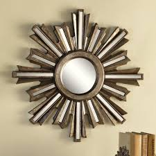 amazon com gold deco sunburst wall mirror home u0026 kitchen