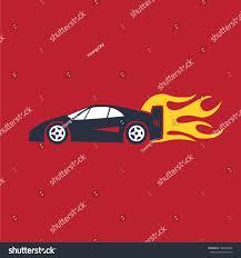cartoon ferrari cartoon race car flames stock vector 184508096 shutterstock
