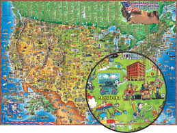 St Louis Map Usa by Children U0027s Illustrated Map Of The Usa From Round World Another