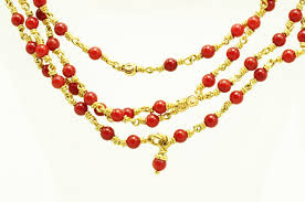 coral beads necklace images Coral beads necklace in gold 2mm design i bead necklace the jpg