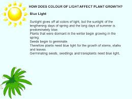 light and plant growth does colored light affect plant growth what color light affects