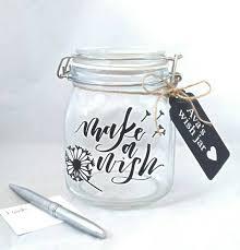 Wedding Wishes Jar Make A Wish Jar Dandelion Wish Celebration Jar Memory
