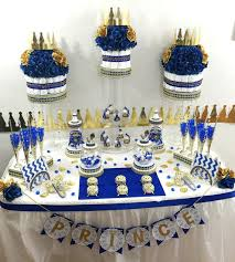 baby shower centerpieces boys royal prince baby shower candy buffet cake centerpiece with