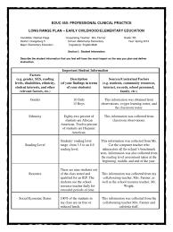 long range plan 5th grade lesson plan educational assessment