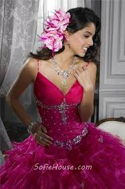 fuchsia quinceanera dresses beautiful gown fuchsia organza quinceanera dress with beading