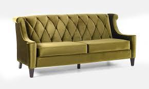 barrister retro sofa in mid century modern green velvet