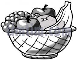 free drawing of a fruit basket clipart panda free clipart images