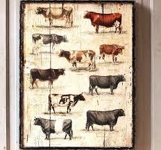 Cow Decor Cow Art Cow Decor Antique Farmhouse