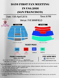 ticketmaster floor plan day6 u0027 fan meeting in usa 2016 tour announced by jazzy goodmomusic