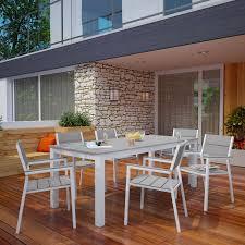 7 Piece Patio Dining Sets - polywood euro plastique patio dining set seats up to 6 hayneedle