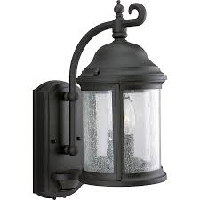 Outdoor Lighting Light Sensor Shop Progress Lighting Ashmore 15 In H Textured Black Motion