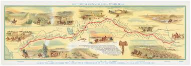 Map Of The United States In 1860 by Pony Express Romance Versus Reality