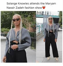 Solange Knowles Meme - solange knowles attends the maryam nassir zadeh fashion show