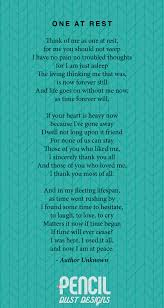 one at rest a collection of non religious funeral poems that help