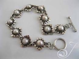 silver bracelet with pearls images Suzie q pearl designer bracelet pearl bracelets jpg