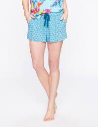 la fiancee du mekong achat en ligne short de pyjama imprimé géométrique turquoise la fiancée du mékong