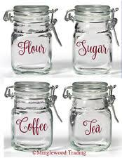 labels for kitchen canisters canister labels decals stickers vinyl ebay