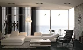 Black And White Living Room Interior Design Ideas - White interior design ideas