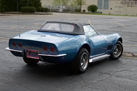 corvette convertible stingray 1968 chevrolet corvette convertible stingray marina blue with 4