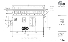 Sample Floor Plan For House The Cider Box Modern Tiny House Plans For Your Home On Wheels