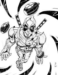 deadpool wolverine coloring pages free 5633 deadpool