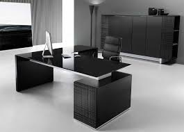 Black Office Desk Modi Executive Pedestal Desk Black Glass Top Office Interiors