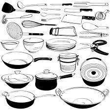 dessin ustensile de cuisine sticker outil d équipement de cuisine ustensile doodle dessin