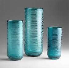 Small Decorative Vases Aqua Glass Vase By Cyan Design