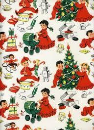retro wrapping paper vintage christmas wrap santa and reindeer vintage christmas