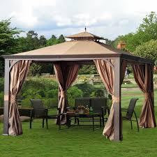 Covered Gazebos For Patios by Furniture Portable Covered Patio With Sunjoy Gazebo And Patio
